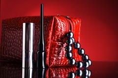 lipstick and mascara. Royalty Free Stock Photo