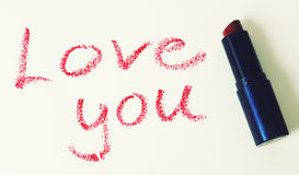 Lipstick message Stock Image