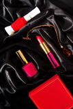 Lipstick and nail polish Royalty Free Stock Image