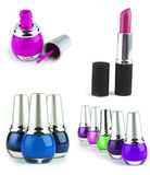 Lipstick and nail polish kits Royalty Free Stock Photography
