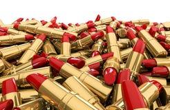 Lipstick pile Stock Image
