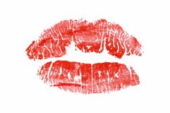 Lipstick print Royalty Free Stock Photography