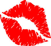 Lipstick Print Stock Photos