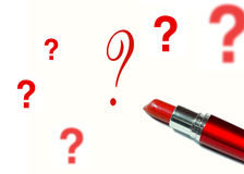 Lipstick and a question. Mark Stock Photography