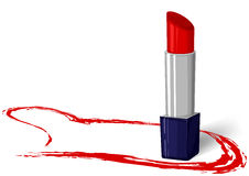 Lipstick red Royalty Free Stock Image