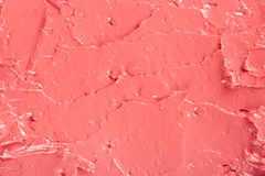 Lipstick red coral color background Royalty Free Stock Photo