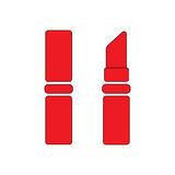 Lipstick Red. Red Lipstick Flat Icon illustration EPS 10 Royalty Free Stock Images