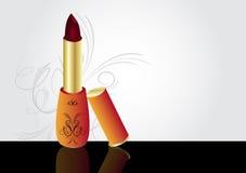 Lipstick. Red lipstick object theme illustration royalty free illustration