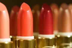 Lipstick row Stock Photos