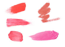 Lipstick samples Royalty Free Stock Photos