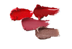 Lipstick samples Stock Photo