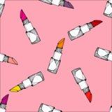 Lipstick seamless pattern Royalty Free Stock Image