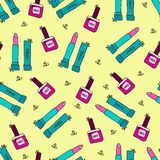 Lipstick Seamless Pattern Royalty Free Stock Photo