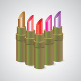 Lipstick, set color. Vector illustration Royalty Free Stock Photography