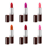 Lipstick set  on white background. Gradient mesh. Stock Image