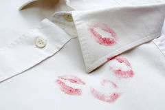 Lipstick shirt Stock Photography