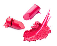 Lipstick and smear Royalty Free Stock Photos