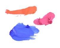 Lipstick smears Stock Image