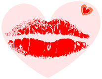Lipstick stamp Royalty Free Stock Image