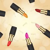 Lipstick texture seamless Stock Photos