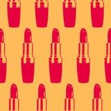 Lipstick. Vector seamless lipstick pattern. retro background Royalty Free Stock Photos