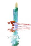 Lipstick with water reflection Royalty Free Stock Photography