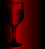 Lipstick Wine Glass Royalty Free Stock Image