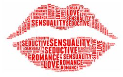 Lipstick in word cloud Royalty Free Stock Photo