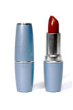 Lipsticks. Pair lipsticks. One lipstick is opened Stock Images