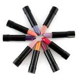 Lipsticks circle Royalty Free Stock Photo
