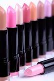 Lipsticks closeup Royalty Free Stock Photography
