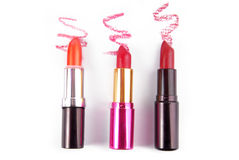 Lipsticks isolated Royalty Free Stock Image