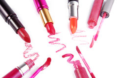 Lipsticks isolated Royalty Free Stock Photo