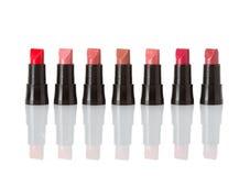 Lipsticks isolated on white Stock Photos
