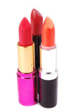Lipsticks isolated on white Royalty Free Stock Images