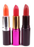 Lipsticks isolated on white Stock Photo