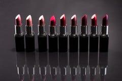 Lipsticks In A Row Stock Photos