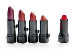 Lipsticks set isolated royalty free stock photography