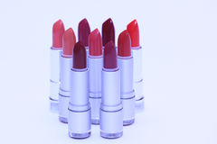 Lipsticks in various colors Royalty Free Stock Photo