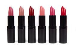 Lipsticks. On a white background Stock Images