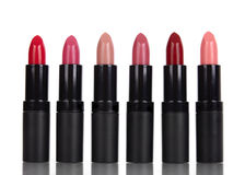 Lipsticks. On a white background Royalty Free Stock Photography