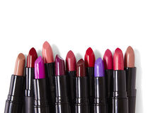 Lipsticks. On a white background Royalty Free Stock Photos