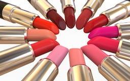 Lipsticks  on White Background Stock Photos