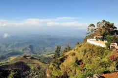 Lipton's Seat view of tea plantations, Sri Lanka stock photos