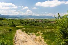 自然在Liptov地区,斯洛伐克在夏天2015年 库存图片