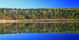 Liptovska Mara. Water reflection on water basin Liptovska Mara, Slovakia royalty free stock image