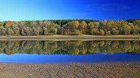 Liptovska Mara. Water reflection on water basin Liptovska Mara, Slovakia stock photo