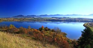 Liptovska Mara. Water basin in region Liptov, Slovakia royalty free stock image