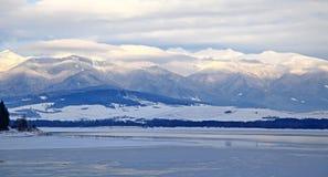 West tatras and water basin Liptovska Mara Stock Images
