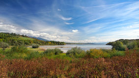 Liptovska Mara as seen from Bobrovnik stock image